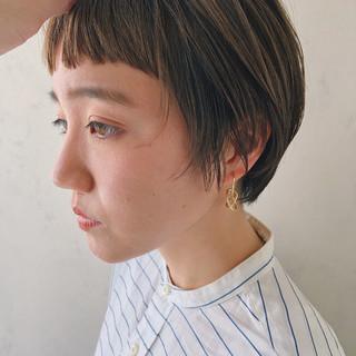 ベリーショート ミニボブ ナチュラル ショート ヘアスタイルや髪型の写真・画像