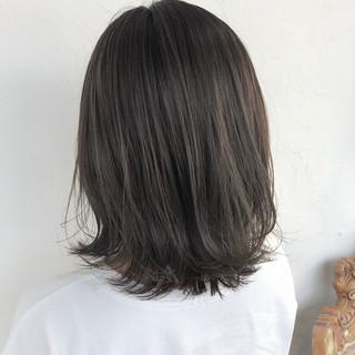 透明感カラー ヘアアレンジ 似合わせカット ミディアム ヘアスタイルや髪型の写真・画像