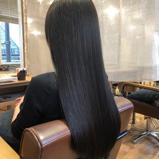 ナチュラル ダークアッシュ ツヤ髪 暗髪女子 ヘアスタイルや髪型の写真・画像