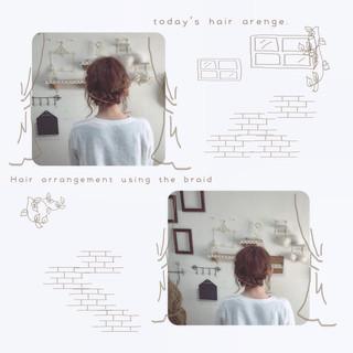 ヘアアレンジ 簡単ヘアアレンジ ショート ガーリー ヘアスタイルや髪型の写真・画像