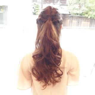 ハーフアップ ショート フェミニン ロング ヘアスタイルや髪型の写真・画像 ヘアスタイルや髪型の写真・画像