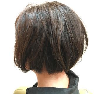 ショートボブ ガーリー ハイライト ボブ ヘアスタイルや髪型の写真・画像