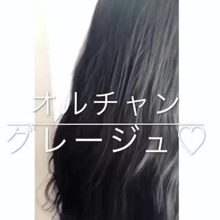 透明感 大人かわいい オルチャン ロング ヘアスタイルや髪型の写真・画像