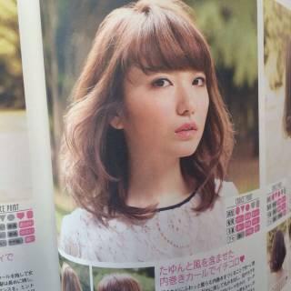 大人女子 かっこいい フェミニン ミディアム ヘアスタイルや髪型の写真・画像