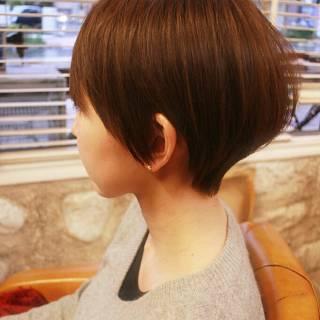コンサバ ショート モテ髪 大人かわいい ヘアスタイルや髪型の写真・画像