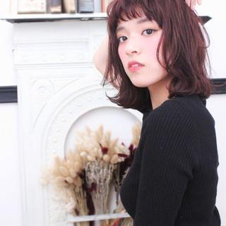 パーマ ピュア フェミニン ボブ ヘアスタイルや髪型の写真・画像