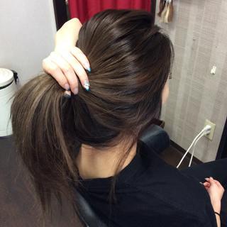 ミルクティーアッシュ ガーリー グラデーションカラー ダブルカラー ヘアスタイルや髪型の写真・画像