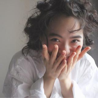 外国人風 簡単ヘアアレンジ ミディアム ナチュラル ヘアスタイルや髪型の写真・画像
