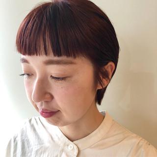 ワイドバング ナチュラル ゆるナチュラル マッシュショート ヘアスタイルや髪型の写真・画像