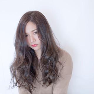 ロング ベージュ ガーリー ピンク ヘアスタイルや髪型の写真・画像