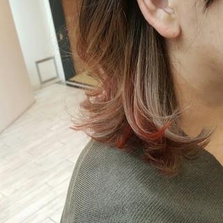 ストリート 外国人風 グラデーションカラー ボブ ヘアスタイルや髪型の写真・画像