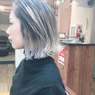 ベリーショート ショートボブ ストリート ピンクベージュ ヘアスタイルや髪型の写真・画像