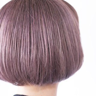 ボブ ラベンダー シアー ラベンダーグレージュ ヘアスタイルや髪型の写真・画像