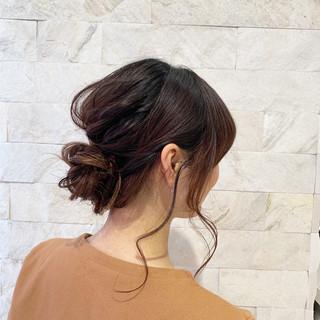 ヘアアレンジ 結婚式 簡単ヘアアレンジ セミロング ヘアスタイルや髪型の写真・画像 ヘアスタイルや髪型の写真・画像