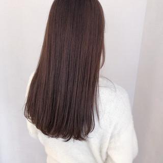 ラベンダーアッシュ ピンクバイオレット スモーキーカラー ナチュラル ヘアスタイルや髪型の写真・画像