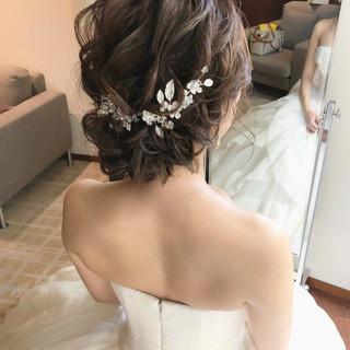 フェミニン ヘアアレンジ 結婚式ヘアアレンジ おしゃれさんと繋がりたい ヘアスタイルや髪型の写真・画像