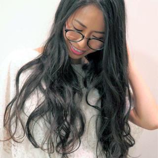 黒髪 ナチュラル かわいい ロング ヘアスタイルや髪型の写真・画像