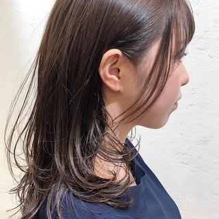 ナチュラルデジパ ナチュラル 毛先パーマ 前髪パーマ ヘアスタイルや髪型の写真・画像
