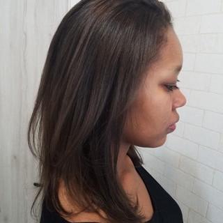 ストリート セミロング レイヤーカット ヘアスタイルや髪型の写真・画像