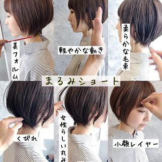 銀座美容室 ナチュラル 耳掛けショート ショート ヘアスタイルや髪型の写真・画像