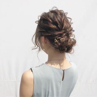 結婚式 エレガント ヘアアレンジ シニヨン ヘアスタイルや髪型の写真・画像