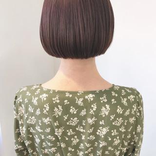大人かわいい ナチュラル 透明感 ミニボブ ヘアスタイルや髪型の写真・画像