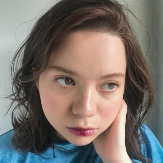 ガーリー 透明感 ウェーブ ゆるふわ ヘアスタイルや髪型の写真・画像