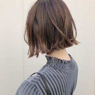 外国人風カラー 切りっぱなし モード ナチュラル ヘアスタイルや髪型の写真・画像