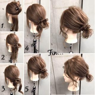 ポニーテール 大人女子 セミロング 簡単 ヘアスタイルや髪型の写真・画像