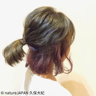 おフェロ ボブ ピンク 外国人風 ヘアスタイルや髪型の写真・画像