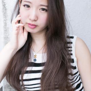 外国人風 ロング 大人かわいい ストリート ヘアスタイルや髪型の写真・画像