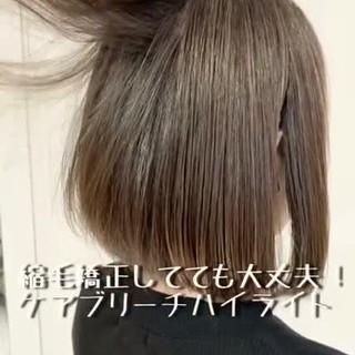 ボブ 外国人風 ブリーチ ナチュラル ヘアスタイルや髪型の写真・画像