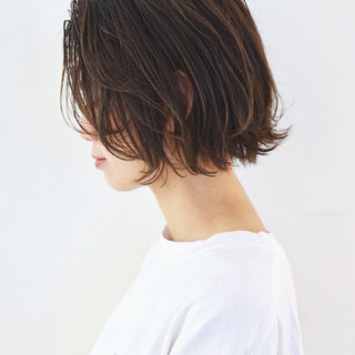 アウトドア ハイライト ボブ ストリート ヘアスタイルや髪型の写真・画像