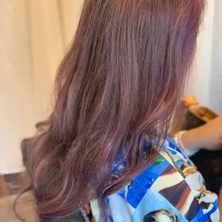 アッシュグレージュ ロング アッシュ 簡単ヘアアレンジ ヘアスタイルや髪型の写真・画像