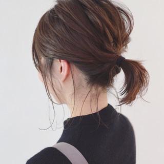 ヘアアレンジ ボブアレンジ ナチュラル 簡単ヘアアレンジ ヘアスタイルや髪型の写真・画像