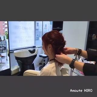 フェミニン ショート ミディアム ルーズ ヘアスタイルや髪型の写真・画像
