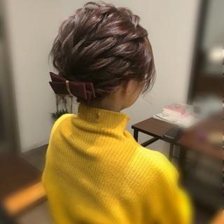 ショート ヘアアレンジ ショートアレンジ ヘアセット ヘアスタイルや髪型の写真・画像 ヘアスタイルや髪型の写真・画像