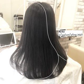 前髪 縮毛矯正 ストレート 髪質改善 ヘアスタイルや髪型の写真・画像