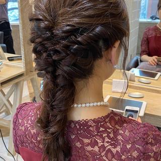 銀座美容室 ナチュラル 簡単ヘアアレンジ 結婚式ヘアアレンジ ヘアスタイルや髪型の写真・画像