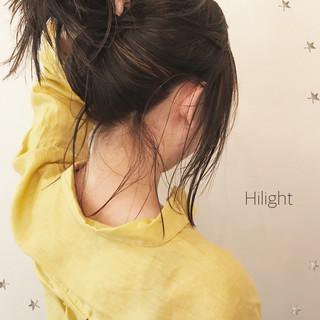 ハイライト ミディアム こなれ感 ストリート ヘアスタイルや髪型の写真・画像