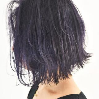 ガーリー ローライト 外国人風カラー ボブ ヘアスタイルや髪型の写真・画像