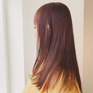 ナチュラル 透明感カラー アディクシーカラー 美シルエット ヘアスタイルや髪型の写真・画像