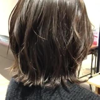 フェミニン モテ髪 モテボブ 切りっぱなしボブ ヘアスタイルや髪型の写真・画像