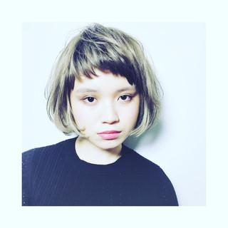 ストリート 外国人風カラー アッシュ グレージュ ヘアスタイルや髪型の写真・画像