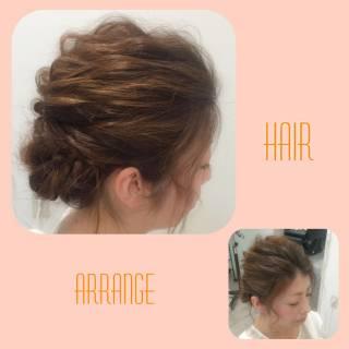 簡単ヘアアレンジ 結婚式 コンサバ ヘアアレンジ ヘアスタイルや髪型の写真・画像