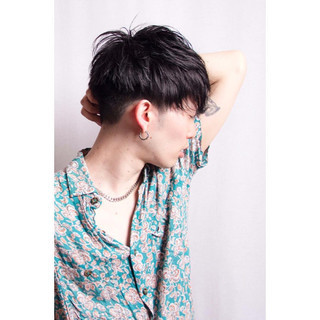 ストリート メンズ ショート 黒髪 ヘアスタイルや髪型の写真・画像