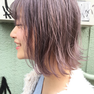 ピンク 色気 ストリート グレージュ ヘアスタイルや髪型の写真・画像