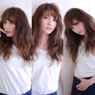 ロング モード アッシュ 外国人風 ヘアスタイルや髪型の写真・画像