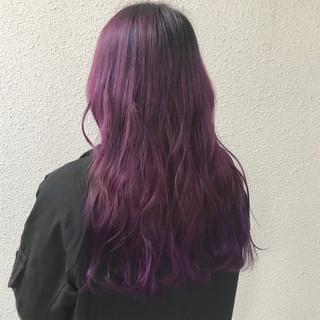 ロング カラーバター ダブルカラー ブリーチ ヘアスタイルや髪型の写真・画像