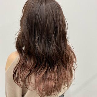 春ヘア フェミニン ピンクカラー グラデーションカラー ヘアスタイルや髪型の写真・画像
